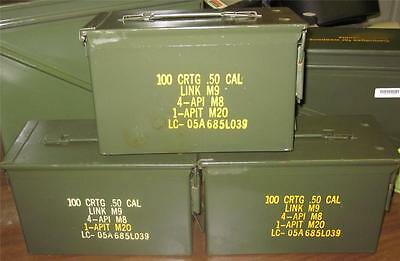 M2A1 - Used - Usgi - Very Good Cond - Per Can Any Quantity - 50 Cal Size Cans