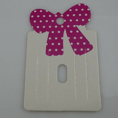 200PCS Bowknot Bow Hair Clip Hair Claws Hair Rope Hairgrips Hanging Card Display
