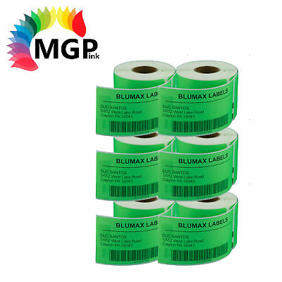 6 Compatible for Dymo/Seiko 99014 Green Label 54mm x 101mm Labelwriter450 Turbo