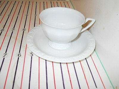 ROSENTHAL MARIA WHITE CUP AND SAUCER
