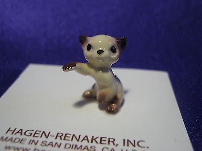 Hagen Renaker Boxing Kitten Figurine Miniature 00008 Porcelain Ceramic New