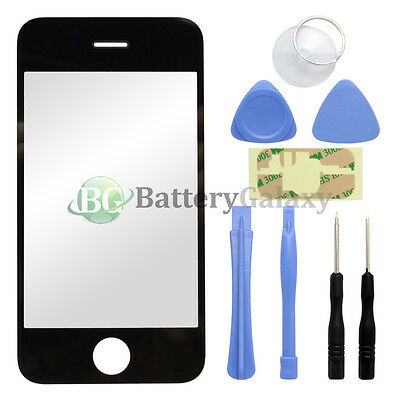Black Outer LCD Screen Glass Lens Replacement for Apple iPhone 3GS + 8 Tools