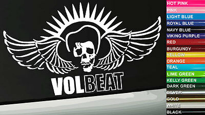 Volbeat Vinyl Window Decal/Bumper Sticker - Multiple Sizes/Colors - All Weather