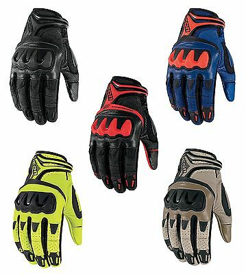 Icon Overlord Resistance Mesh / Leather Motorcycle Riding Gloves