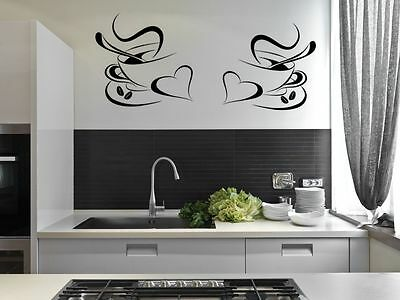 SNACKS KITCHEN WALL ART STICKER DECAL CAFE RESTAURANT DRINK MUGS c19