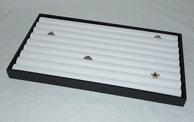 8 Row Ring Display Tray With White Insert For 110+ Rings