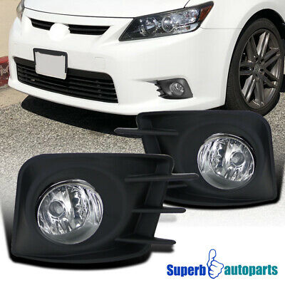 2011-2013 Scion tC Front Bumper Lights Driving Fog Lamps Clear w/ Cover+Switch