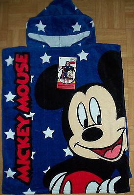 Disney Towelling Beach / Bath Cover up with Hood. Mickey or Minnie Mouse Design