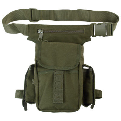 Shoulder Hip Bag Waist Multi Pack Belt Pouch Hiking Camping Travel Olive Green