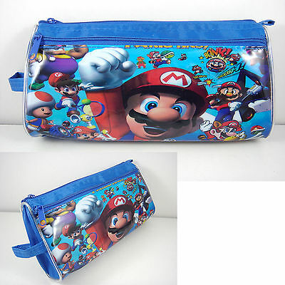 Super Mario Bros Stationery Pencil Storage Cosmetic Make Up Case Bag + GIFT
