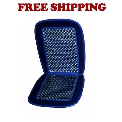 Brand New Car Truck Wood Beaded Premium Seat Cushion Color Navy Blue