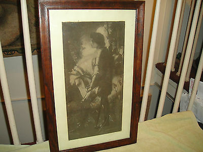 Antique Sir Galahad Print By George Fredrick Watts-Framed Fredrick Hollyer-LOOK