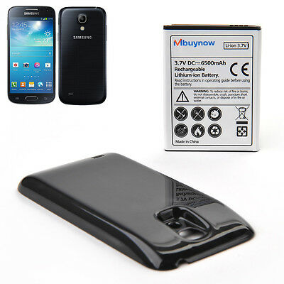 6500mAh Extended Battery+Black Back Cover For Samsung Galaxy S4 Mini GT-I9190
