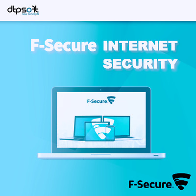 F-Secure Internet Security 2019 VOLLVERSION 1 - PC Upgrade Antivirus 2018 DE EU