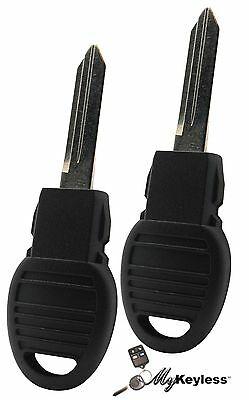 NEW CHRYSLER DODGE REPLACEMENT UNCUT TRANSPONDER CHIP IGNITION KEY BLADE PAIR
