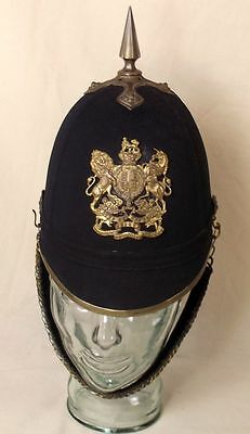 Victorian Royal Engineers Spiked Black Cloth Spikehelmet By Haslett