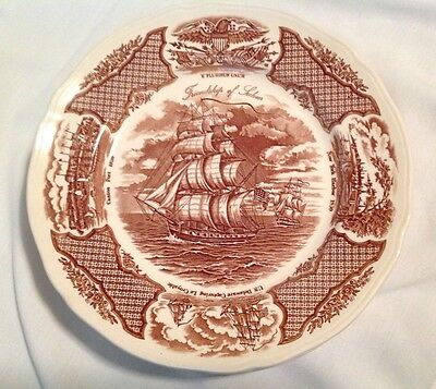 "6 - 10.5"" Plates Alfred Meakin Staffordshire Plate Fair Winds Ships"