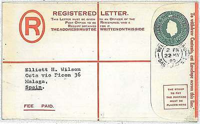 Barbados : Registered Letter - Postal Stationery Cover - Welches Road 1980