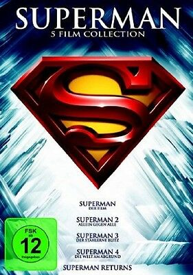 Superman - Die Spielfilm Collection Teil 1+2+3+4+Returns * NEU OVP * 5 DVDs