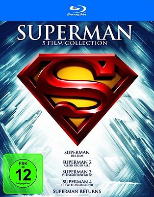 Superman - Die Spielfilm Collection Teil 1+2+3+4+Returns * NEU OVP * Blu-ray