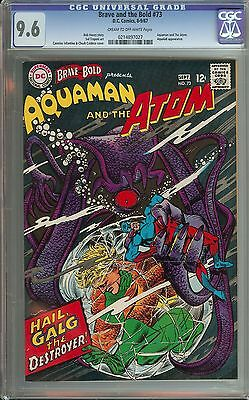 Brave And The Bold #73 Cgc 9.6 Cr/ow Pages // Aquaman/aqualad/atom Appearances