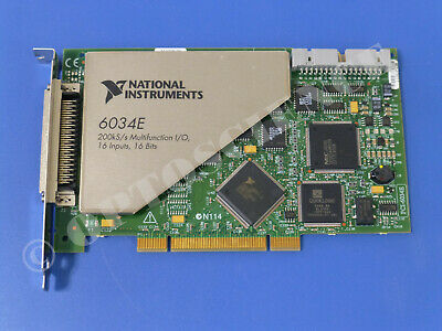 National Instruments PCI-6034E NI DAQ Card, 16 bit Analog Input, Multifunction