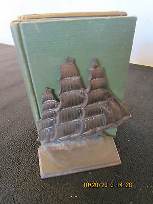 Pr Of Vintage Cast Iron Clipper Ship Bookends