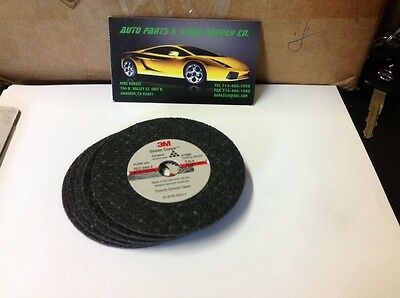 "5 NEW    3M GREEN CORPS CUT-OFF WHEELS 3""x 1/16""x 3/8"" inch"