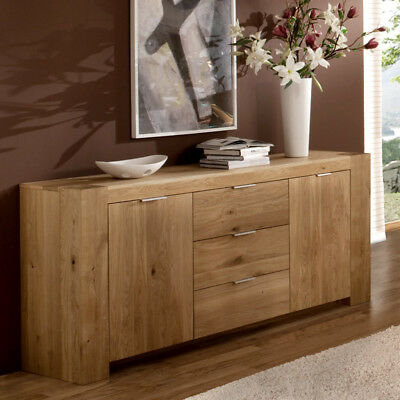 sideboard wildeiche massiv ge lt kommode esszimmerschrank wohnzimmer esszimmer eur. Black Bedroom Furniture Sets. Home Design Ideas