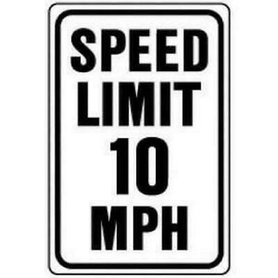 Hy-Ko HW-10 Aluminum Heavy Duty Speed Limit 10 Road Safety Sign 12 x 18""