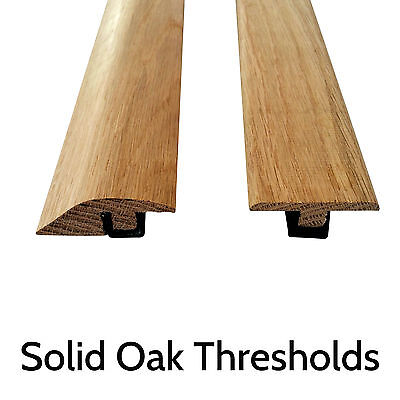Solid Oak Threshold Door Bar Trims Strip for Wood Flooring Ramp and T bars