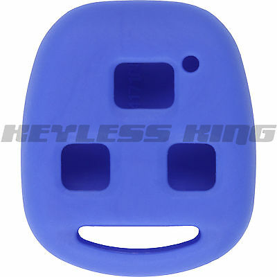New Blue Keyless Remote Smart Key Fob Clicker Case Skin Jacket Cover Protector