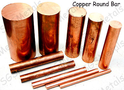 Copper Round Bar Rod - C101 6mm - 50mm Diameter  Milling Machine Lathe Drill