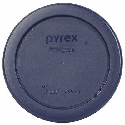 """Pyrex 4"""" Plastic Storage Blue Lid Replacement Cover for 1 Cup Bowl 7202-PC"""