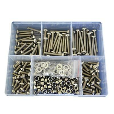 Kit Size 270 Pan Head Machine Screw M6 Stainless Steel G304 Bolt Nut Washer #88