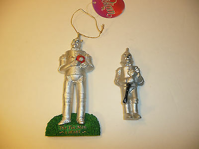 2 Tin Man Items - Tinman Holiday Ornament and Fridge Magnet The Wizard of OZ