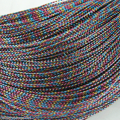 10m CARD CRAFT Thread NYLON JEWELLERY Tag  String CORD  approx 0.8mm MULTI