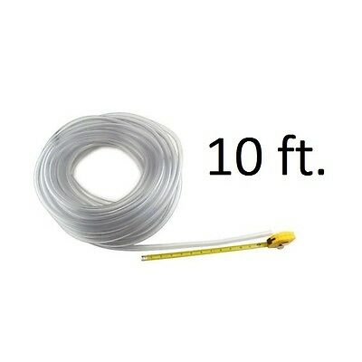 "Beer Line 3/16"" Vinyl Hose - 10 ft - Home Bar Pub Kegerator Draft Keg Dispensing"