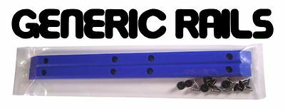 NOS Generic SIDE RAILS Skateboard Gorilla Rib Bone Style Grab Rails BLUE