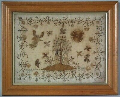 1796 Hair & Silkwork Sampler by Charlotte White