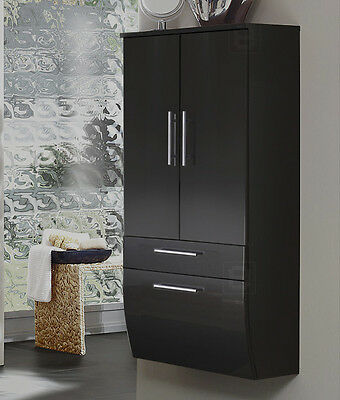 neu badezimmerm bel unterschrank hochglanz wei anthrazit badm bel bad schrank eur 339 00. Black Bedroom Furniture Sets. Home Design Ideas