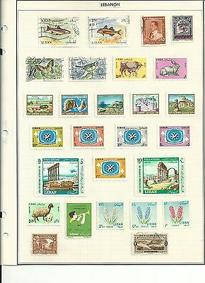 Lebanon & Kuwait Stamp Collection on Album Pages, Nice Variety