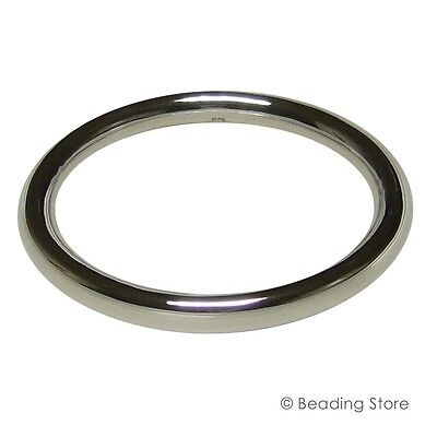 Sterling Silver 925 9mm 65mm ID 83mm OD Golf Bangle Bracelet Round Tube Tubing