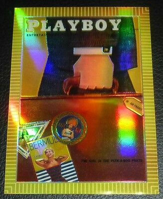 1995 Sports Time Playboy July 1956 Chromium Cover Refractor Card #R105 Edition 2