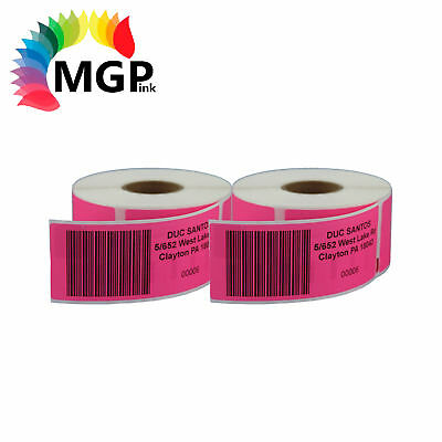 2 Compatible for Dymo/Seiko 99012 Pink Label 36mm x 89mm Labelwriter450 Turbo