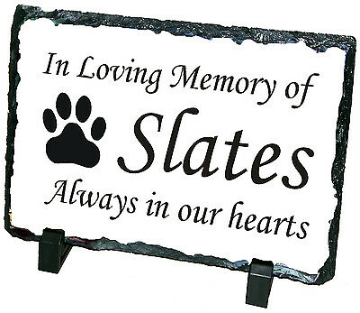 Pet Photo Slates. Personalised, cat & dog, temp memorial grave head stone marker