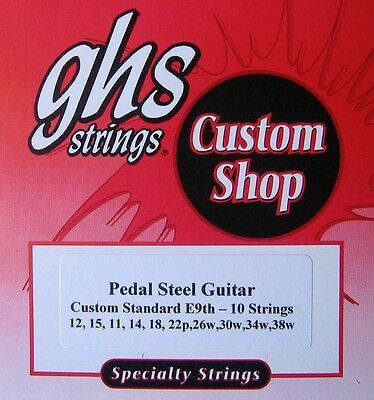 GHS Custom E9th-10 (Standard) Pedal Steel Guitar Strings- 2 Sets