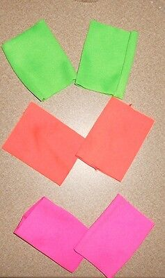New Neon Wristbands or Knee Pads Dance Theatrical 3 Colors Unisex