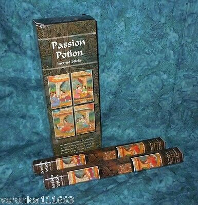 40 Passion Potion Incense Sticks New Sealed Kamini Hand Rolled Exotic Sensual