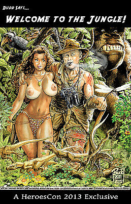 CAVEWOMAN CONVENTION BOOK - 2013 Heroes Con -MATURE- SIGNED BY BUDD ROOT!